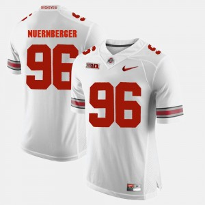 #96 Sean Nuernberger Ohio State Buckeyes Alumni Football Game Mens Jersey - White
