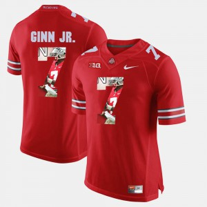 #7 Ted Ginn Jr. Ohio State Buckeyes Pictorial Fashion Men's Jersey - Scarlet
