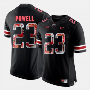 #23 Tyvis Powell Ohio State Buckeyes Pictorial Fashion Mens Jersey - Black