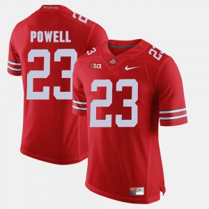 #23 Tyvis Powell Ohio State Buckeyes For Men's Alumni Football Game Jersey - Scarlet
