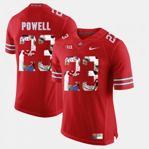 #23 Tyvis Powell Ohio State Buckeyes Pictorial Fashion For Men Jersey - Scarlet