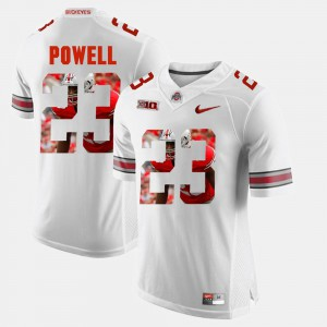 #23 Tyvis Powell Ohio State Buckeyes Pictorial Fashion Mens Jersey - White