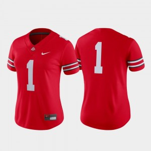 #1 Ohio State Buckeyes Game College Football Women's Jersey - Scarlet