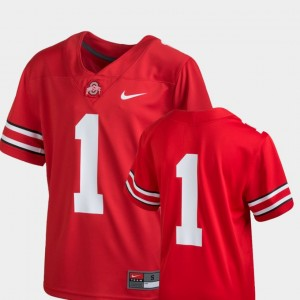 #1 Ohio State Buckeyes Youth Team Replica College Football Jersey - Scarlet