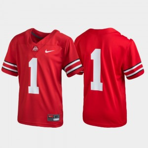 #1 Ohio State Buckeyes Football Untouchable Kids Jersey - Scarlet