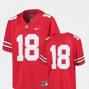 #18 Ohio State Buckeyes Youth(Kids) Replica College Football Jersey - Scarlet