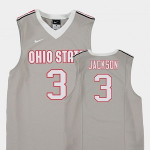 #3 C.J. Jackson Ohio State Buckeyes Replica Youth(Kids) College Basketball Jersey - Gray