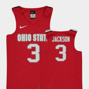 #3 C.J. Jackson Ohio State Buckeyes College Basketball Replica Youth Jersey - Red