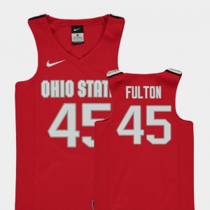#45 Connor Fulton Ohio State Buckeyes College Basketball Replica Youth(Kids) Jersey - Red