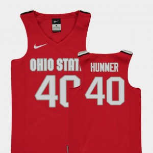 #40 Daniel Hummer Ohio State Buckeyes College Basketball Replica For Kids Jersey - Red