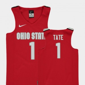 #1 Jae'Sean Tate Ohio State Buckeyes For Kids Replica College Basketball Jersey - Red
