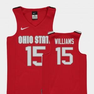 #15 Kam Williams Ohio State Buckeyes College Basketball Replica Kids Jersey - Red