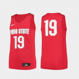 #19 Ohio State Buckeyes Youth(Kids) College Basketball Replica Jersey - Scarlet